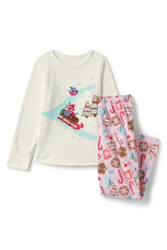 Pyjama 2 Pièces Graphique en Polaire, Fille