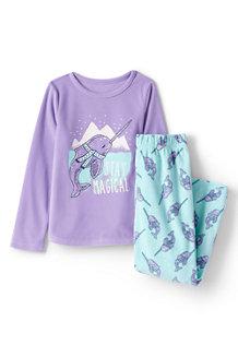 Girls' Graphic Fleece Sleep Set
