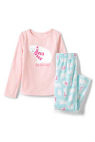 Girls Graphic Fleece Pajama Set