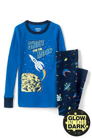 Toddler Boys Glow In The Dark Snug Fit Pajama Set