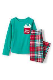 Girls Pocket Fleece Pajama Set