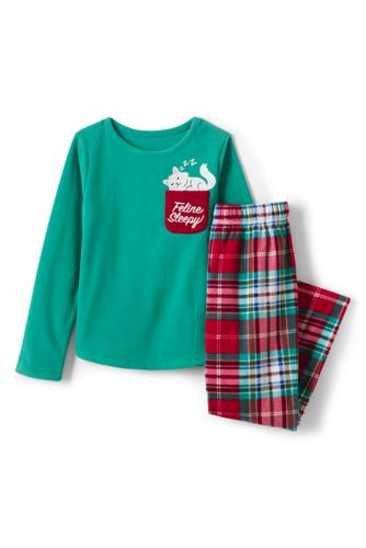 Girls' Graphic Pocket Fleece Pyjamas