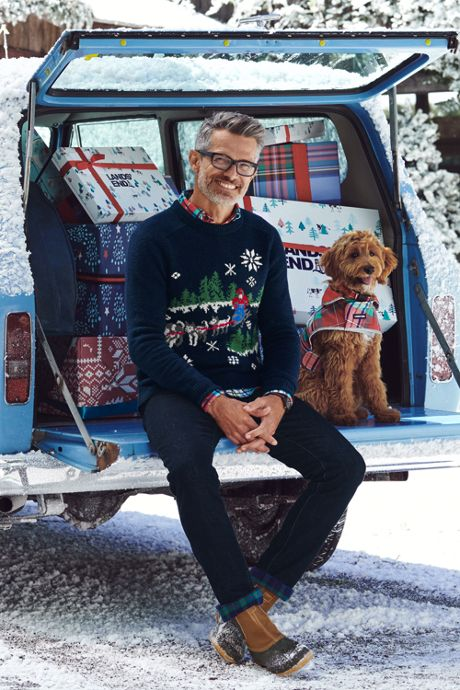 Men's Lighthouse Heritage Dogsled Crew Neck Sweater