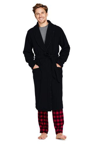 Robe de Chambre Réversible en Polaire et Flanelle, Homme Stature Standard