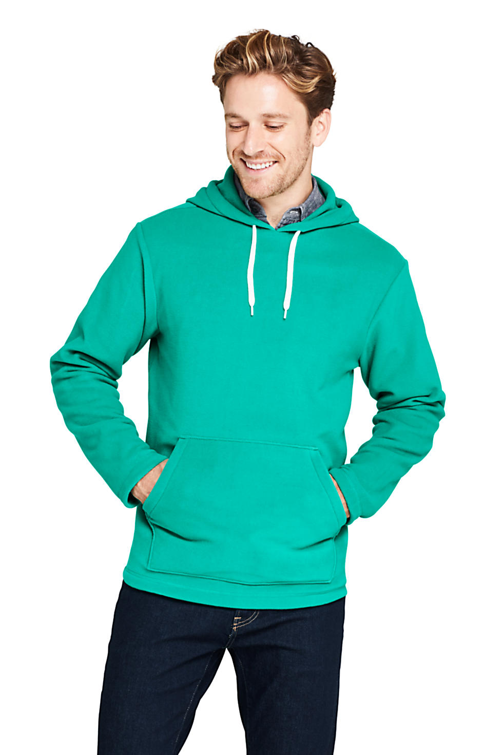 Lands End Mens Fleece Hoodie (various colors/sizes)