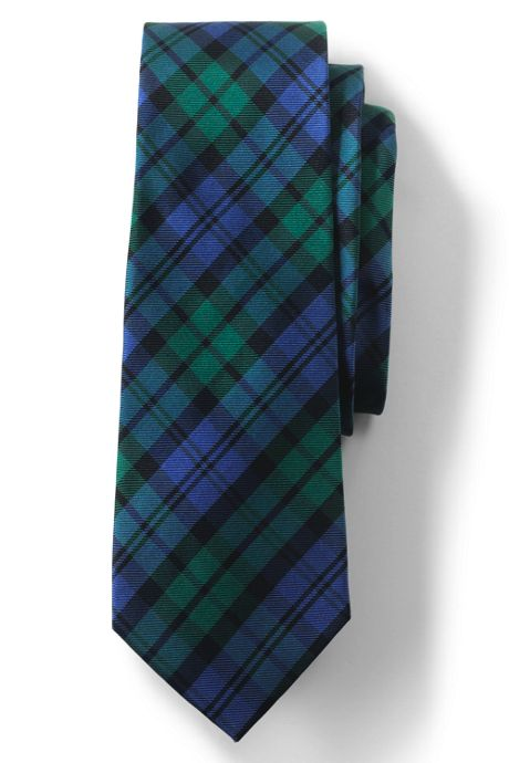 Men's Silk Plaid Tie