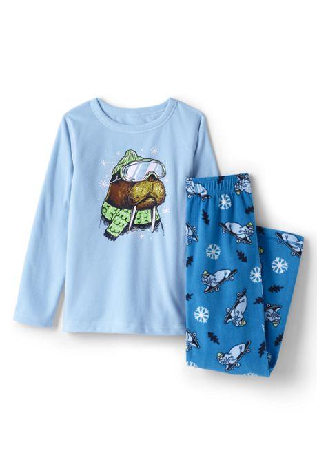 Toddler Boys Graphic Fleece Pajama Set