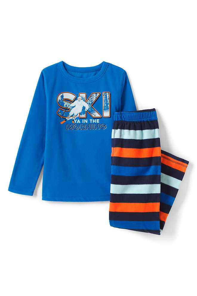 Toddler Boys Graphic Fleece Pajama Set, Front