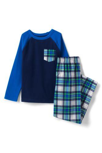 Fleece-Pyjama mit Tasche für Jungen