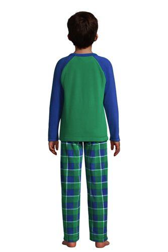 Boys Chest Pocket Fleece Pajama Set
