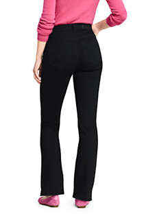 Women's Tall Curvy Mid Rise Bootcut Jeans - Black, Back