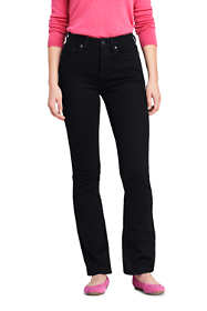 Women's Curvy Mid Rise Bootcut Jeans - Black