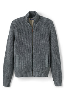 Men's Sherpa-lined Zip Cardigan