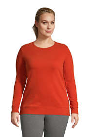 Women's Plus Size Serious Sweats Crewneck Long Sleeve Sweatshirt Tunic