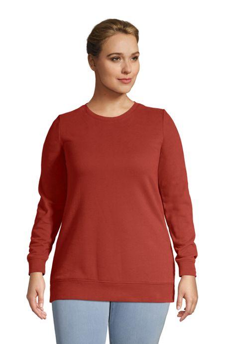Women's Plus Size Serious Sweats Crewneck Long Sleeve Sweatshirt Tunic