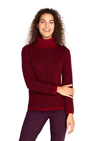 Women's Petite Cashmere Turtleneck Sweater - Print