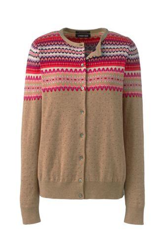 Women's Jacquard Supima Cotton Cardigan