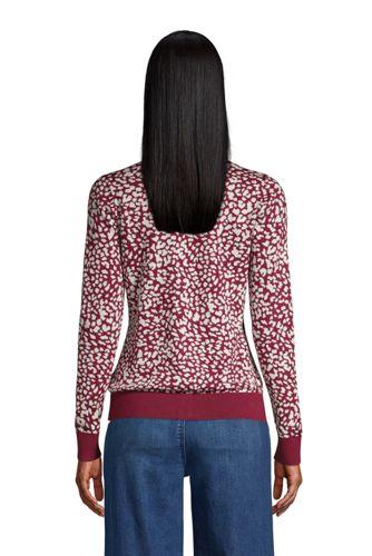 Women's Supima Cotton Cardigan Sweater - Print