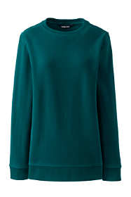 Women's Petite Serious Sweats Crewneck Long Sleeve Sweatshirt Tunic