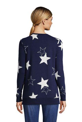 Women's Tall Serious Sweats Crewneck Long Sleeve Sweatshirt Tunic