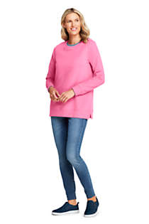Women's Petite Serious Sweats Crewneck Long Sleeve Sweatshirt Tunic, alternative image