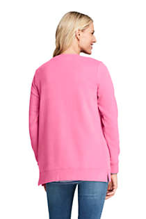 Women's Petite Serious Sweats Crewneck Long Sleeve Sweatshirt Tunic, Back