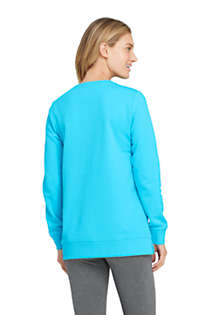 Women's Tall Serious Sweats Crewneck Long Sleeve Sweatshirt Tunic, Back