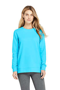 Women's Tall Serious Sweats Crewneck Long Sleeve Sweatshirt Tunic, Front