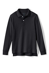 Kids' Long Sleeve Solid Performance Mesh Polo Shirt