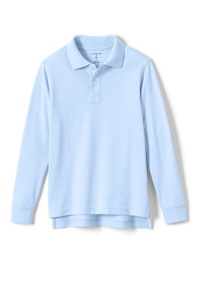 Kids Long Sleeve Mesh Polo Shirt, Front