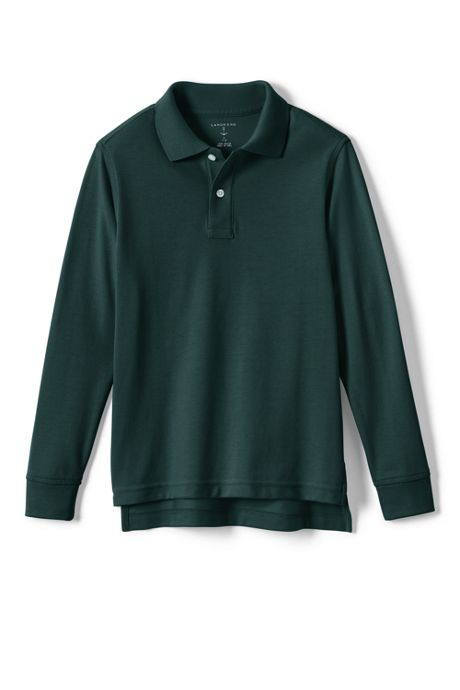Kids Husky Long Sleeve Performance Mesh Polo
