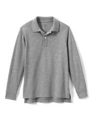 Little Kids Long Sleeve Mesh Polo Shirt