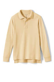 School Uniform Little Kids Long Sleeve Mesh Polo Shirt