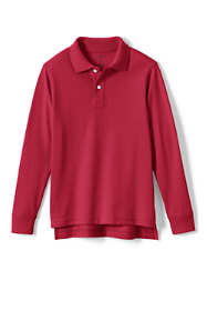 School Uniform Kids Long Sleeve Mesh Polo Shirt