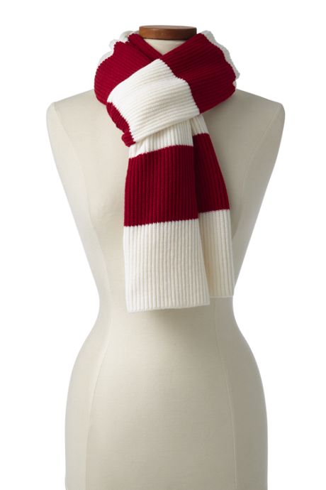 Heritage Knit Striped Winter Scarf