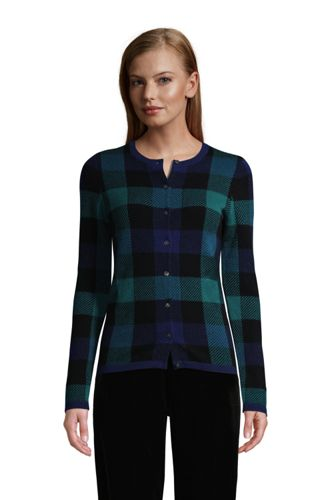 Women's Cashmere Pattern Cardigan