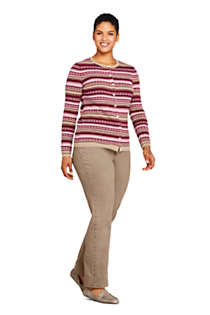 Women's Plus Size Cashmere Cardigan Sweater - Fair Isle, Unknown