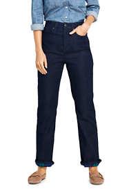 Women's Flannel Lined Straight Leg Jeans