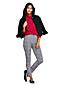 Women's High Waisted Slim Ankle Length Print Velvet Jeans