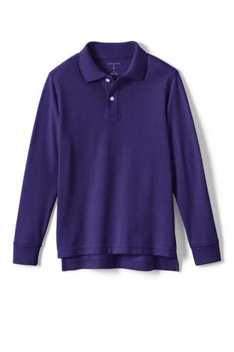 Kids Long Sleeve Performance Mesh Polo