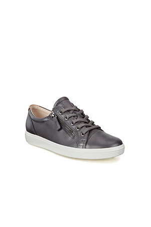 new photos arriving new authentic Women's ECCO Soft 7 Zip Leather Trainers | Lands' End