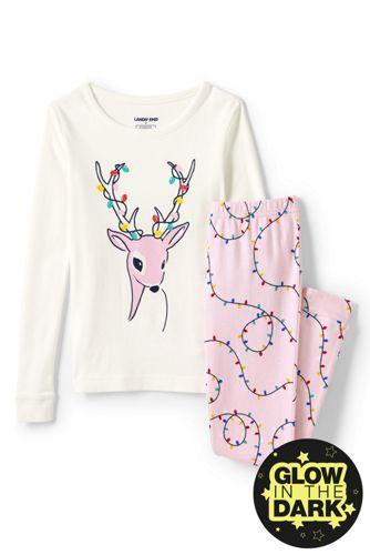 Girls' Glow-in-the-Dark Snug Fit Pyjamas