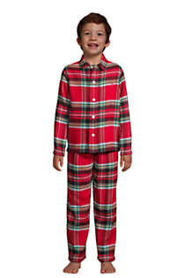 Boys Flannel Pajama Set, Front