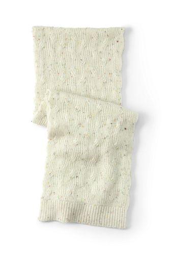 Schal mit Zopfmuster für Damen