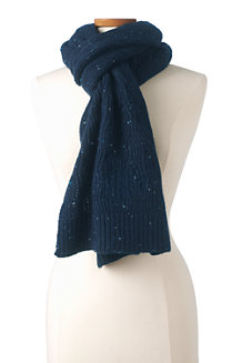 Women's Lightweight Cable Knit Scarf