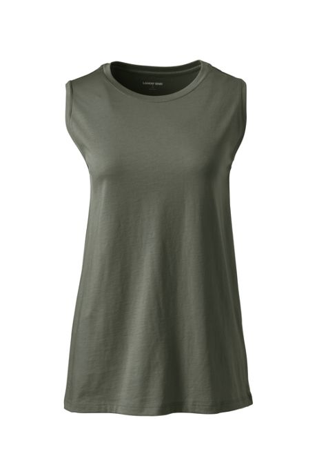 Women's Plus Size Supima Cotton Crew Neck Tank