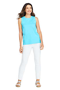 Women's Supima Cotton Crew Neck Tank Top, Unknown