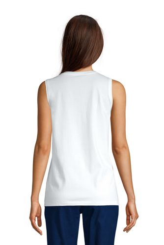 Women's Supima Cotton Crew Neck Tank Top