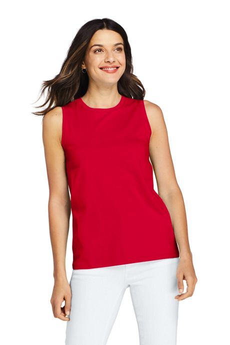 Women's Supima Cotton Crew Neck Tank