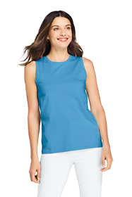 Women's Petite Supima Cotton Crew Neck Tank Top